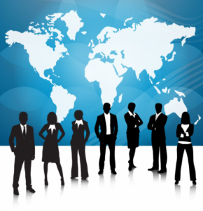 Business People Team With World Map-resized-600